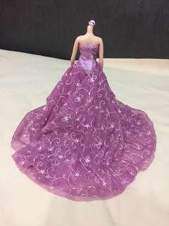 🚚 芭比娃娃高檔婚紗禮服