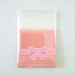 Cookie / Gift Bags (Pink Ribbon) 7x7