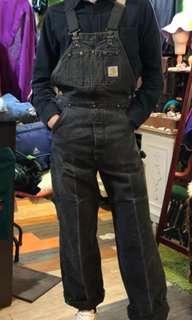 🚚 古著 美國製carhartt灰黑色吊帶褲