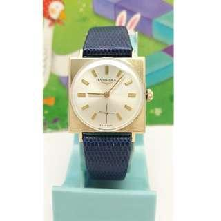 瑞士原裝LONGINES浪琴10K(GOLD FILLED)包金手動上鍊古董機械錶