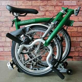 🤜🏻 2017 Brompton Super Sale 🤛🏻 Titanium 6RX 💚 Racing Green 💚 M Type Handlebar | Only at $3475
