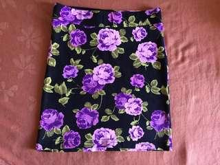 XXI Flowery Mini Skirt