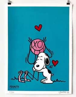 """Mr. A loves Snoopy"" by André Saraiva *Limited Print (Blue)"