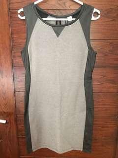 H&M mix leather dress