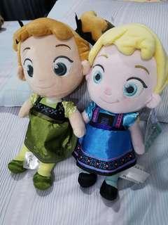 Elsa n anna plushies