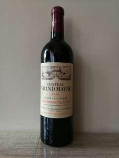 法國波爾多 GRAND MAYNE 2000 紅酒