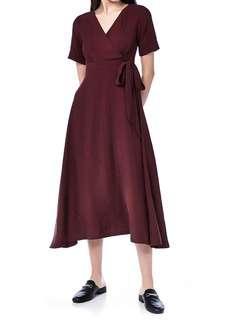 🚚 Overlap Maxi Dress