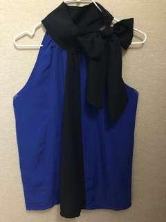 Blue Combi Black Top