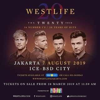 Tiket westlife platinum - twenty tour indonesia