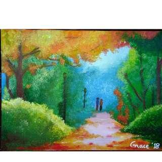 Canvas Painting: Walking Together