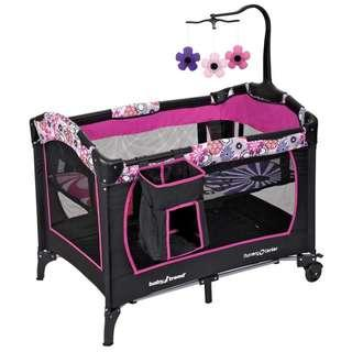 BabyTrend Large Baby Cot Playpen Portable Children Play Yard Travel Bed Bassinet