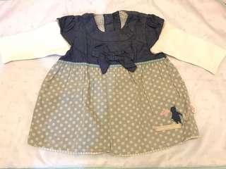 M&S 長袖嬰兒裙3-6M