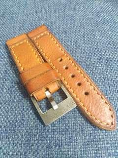 24mm handmade strap with Damascus buckle