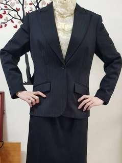 專櫃EXPRESS 直線條西裝版外套 ,外套,直線條設計