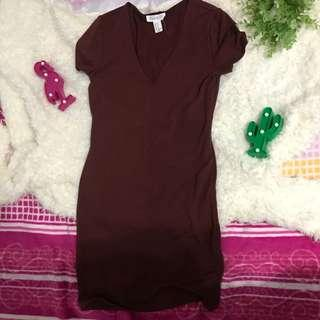 Maroon forever 21 bodycon dress