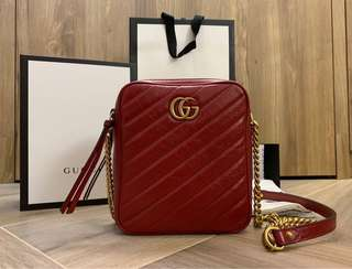 ee88179ff4f Gucci GG Marmont Mini Shoulder Red Bag