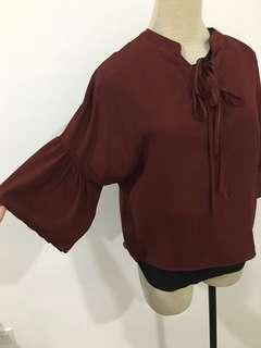 Bohemian Maroon blouse
