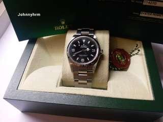 (So)勞力士Rolex 114270 Explorer 有卡原装砂