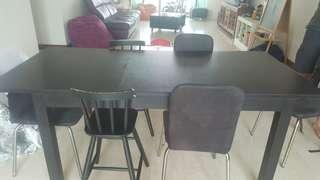 Dining Table And  4 adults Chairs