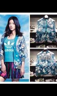 Adidas拉鏈網紗寬鬆運動外套 全智賢同款