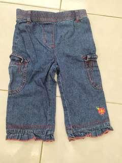 Long jeans (waist elastic loose)