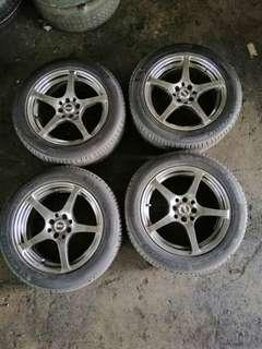"""16""""inch Sport rim with tyres 4x100 and 4x114.3"""