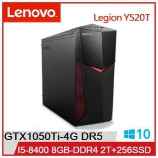 LENOVO IdeaCentre Y520T I5-8400 GTX1050Ti 電競主機 中古機 9成新