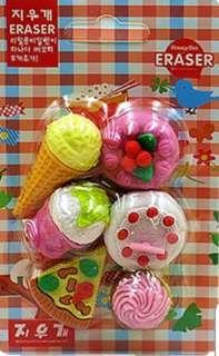 Icecream & Cake Eraser Set