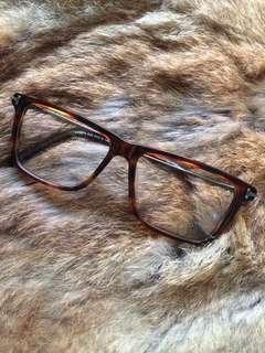 美國Tom Ford琥柏色雅痞眼鏡