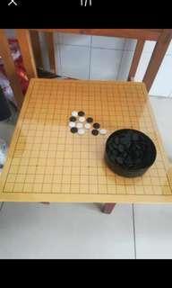圍棋十九路木制棋盤加黑白棋