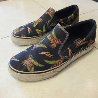 DC Slipon 罌粟花藍色懶人鞋US9.5 /27.5cm