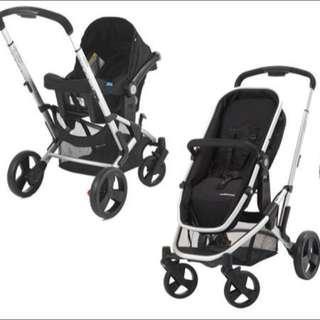 Mothercare Xpedior Stroller In Black.