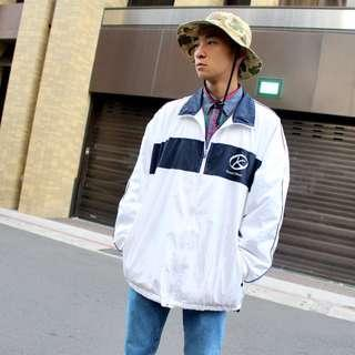 私路古著 關西高校風衣外套 白色