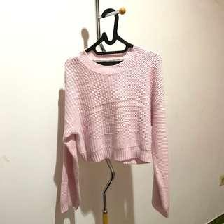 Pink Sweater Zara Knit