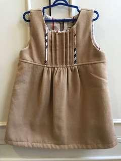 Dress burberry lookalike warna khaki