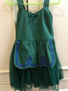 Dress hijau dengan tille include headband