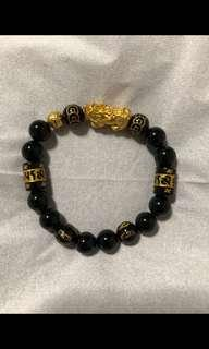 999 24k gold pixiu with moneyball. 10mm manao
