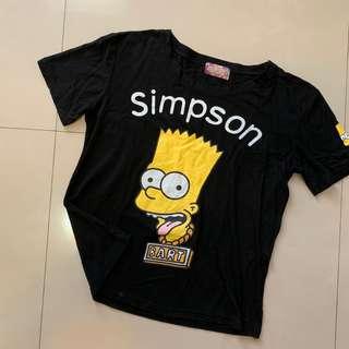 🚚 辛普森 霸子 黑色T恤