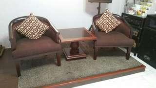1 set coffee table and chair