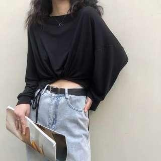 Korean casual crop top