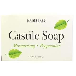 [現貨] Madre Labs, Castile Soap Bar, Peppermint 薄荷皂