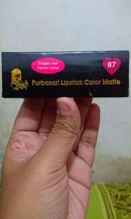 Purbasari Lipstick Color Matte Shade 87 (zamrud)