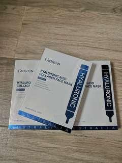 (最新版)Eaoron Hyaluronic Acid Collagen Face Mask 澳洲家用透明質酸水光面膜