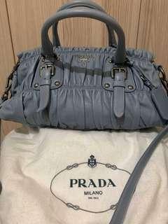 Prada Nappa Gaufe Leather Handbag