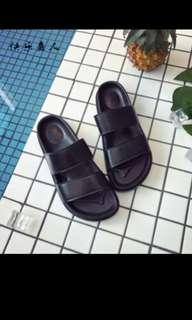 (No trades) Black Two Strap Sandals