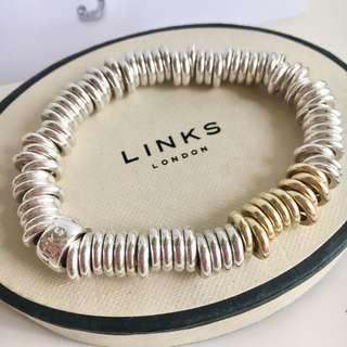 Links Of London Sweeties Bracelet 80 圈 two tone S925 + 14k gold