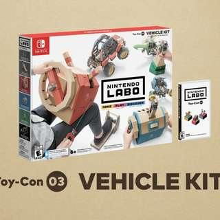 🚚 Nintendo Labo Vehicle Kit - Toy-Con 03