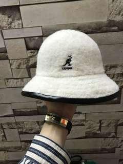 Kangol bucket white 白色漁夫帽