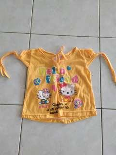 Orange tshirt top
