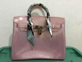 Tas jelly pink soft